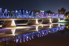 Night View of old Bridge Royalty Free Stock Image