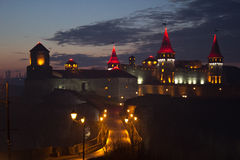 Night view of the Old Castle Stock Images