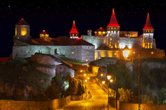 Night view of Old Castle Royalty Free Stock Photography