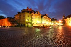 Old city in Warsaw royalty free stock photo