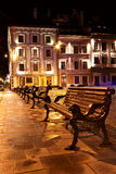 Night view of the old european town Stock Image