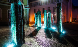 Night view of old european town Fussen Royalty Free Stock Photos