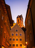 Night view of old europian town Fussen Royalty Free Stock Photos