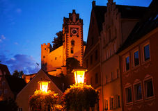 Night view of old europian town Fussen Royalty Free Stock Photography