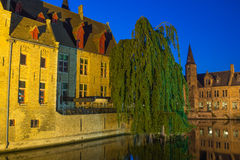 Night view of the Old Town of Bruges Royalty Free Stock Photography