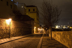 Night view of old town of prague Stock Images