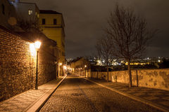 Night view of old town of prague Royalty Free Stock Photo