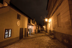 Night view of old town of prague Royalty Free Stock Image