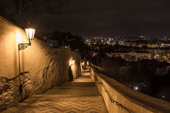 Night view of old town of prague Stock Image
