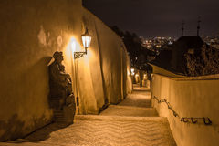 Night view of old town of prague Stock Photo