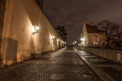 Night view of old town of prague Royalty Free Stock Photos