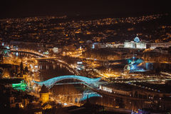 Night view of old town in Tbilisi Stock Photos