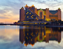 Night View On Resort Hotels In Eilat City, Israel Royalty Free Stock Photos