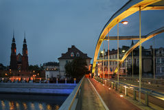 Night view on the Opole city Royalty Free Stock Photos