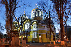 Night view of the Orthodox church Royalty Free Stock Photos