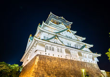 Night view of Osaka Castle in Japan Stock Images