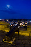 Night view over Brno from Spilberk castle Royalty Free Stock Photos