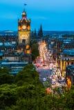 Night view over Edinburgh Stock Photography