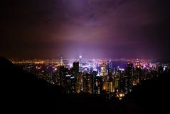 Night View Over Hong Kong Stock Image