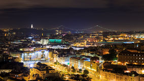 Night view over Lisbon Royalty Free Stock Image