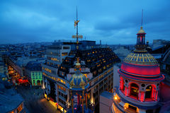 Night view over the roofs of Paris Royalty Free Stock Images