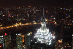 Night view over Shanghai, China Royalty Free Stock Photo