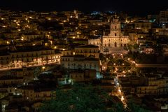 Village of Modica in the south of Sicily, Italy royalty free stock images