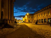 Night view in Oxford royalty free stock image