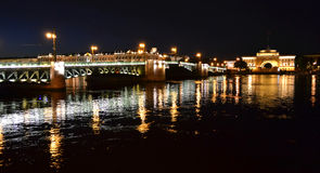Night view of Palace Bridge Royalty Free Stock Images