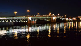 Night view of Palace Bridge Stock Images