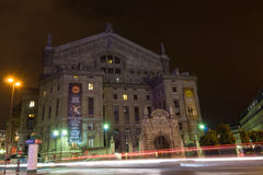 Night view of the Palais Garnier opera house, Paris Opera . Royalty Free Stock Image