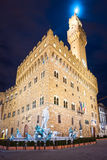 Night view of Palazzo vecchio,Florence. Royalty Free Stock Image