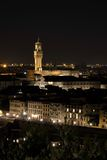 Night view of Palazzo Vecchio, Florence, Italy Royalty Free Stock Photos