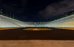 Night view of Panathinaiko stadium (Kallimarmaro), Athens, Greece Stock Images