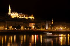 Night view of panorama Budapest, Hungary Royalty Free Stock Photos