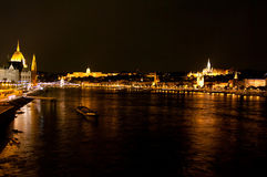 Night View Of Panorama Budapest, Hungary Stock Photography