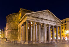 Night view of Pantheon in Rome, Italy Royalty Free Stock Photos