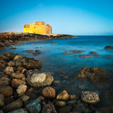 Night view of the Paphos Castle Stock Photography