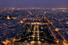 Night view of Paris Royalty Free Stock Photos
