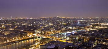 Night view of Paris (France) Stock Photo