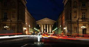 Night view, Paris, France. Night view of the Roman Catholic church Madelein, Paris, France Stock Photos