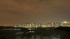 Night view of Bangalore IT Parks stock images