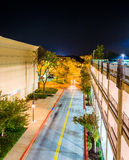 Night view from a parking garage in Columbia, Maryland. Stock Image