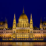 Night view on the Parliament Building in Budapest Royalty Free Stock Photo