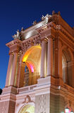 Night view of part of opera house Royalty Free Stock Photography