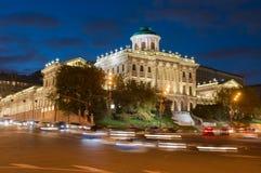 Night view of Pashkov House Stock Photos