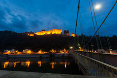 Night view of Passau, Germany royalty free stock photography
