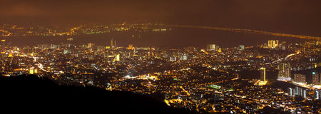 Night view of the Penang Hill, Malaysia. Stock Images