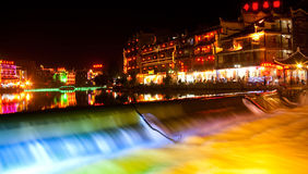 Night-view at Phoenix Town, next to Tuojiang,China Stock Photos