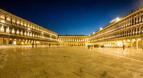 Night view of Piazza San Marco Royalty Free Stock Photos